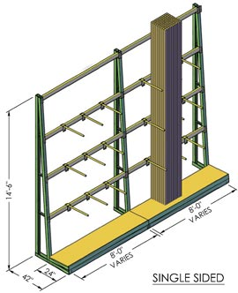 Single-sided a-frame
